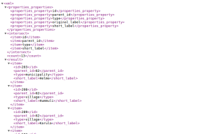 XML format in chrome